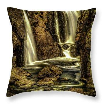 Great Falls Close Up Throw Pillow