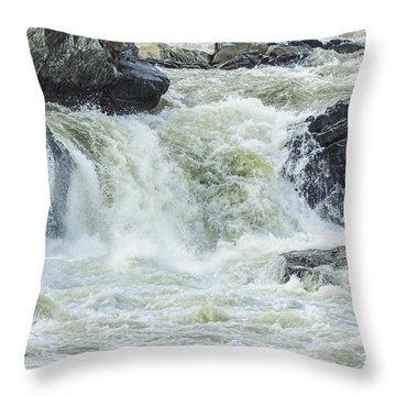 Great Falls Of The Potomac Throw Pillow