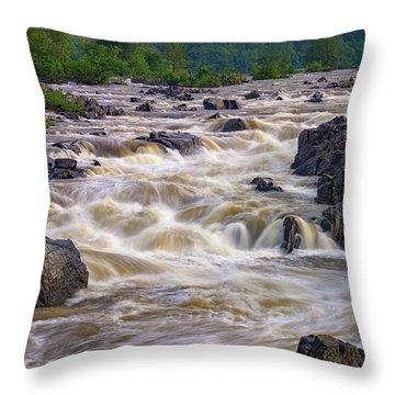 Great Falls Of The Potomac River Throw Pillow