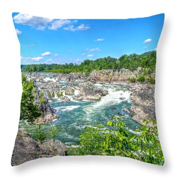 Great Falls On The Potomac Throw Pillow