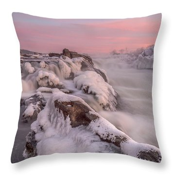 Potomac River Great Falls Virginia Throw Pillow