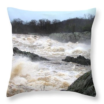Great Falls Torrent Throw Pillow