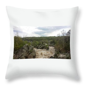 Great Falls Virginia Throw Pillow by Charlotte Gray