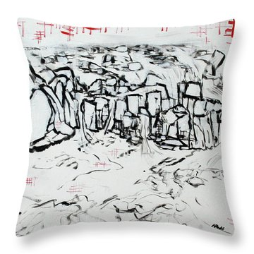 Great Falls Waterfall 201752 Throw Pillow by Alyse Radenovic