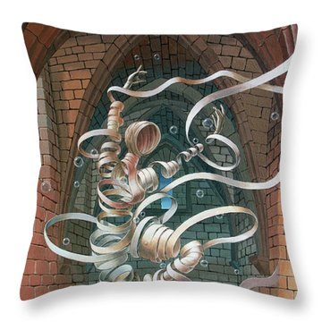 Great Ghost Of Caesarea Throw Pillow