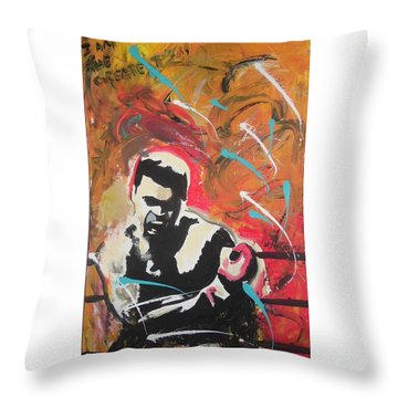 Great Gloves Of Fire Throw Pillow