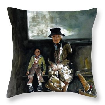 Great Grandma And Me Throw Pillow