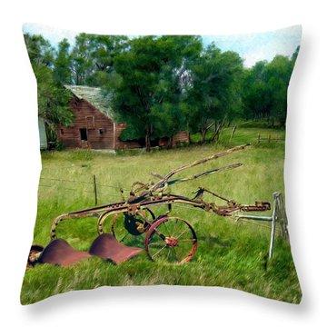 Great Grandpa's Plow Throw Pillow