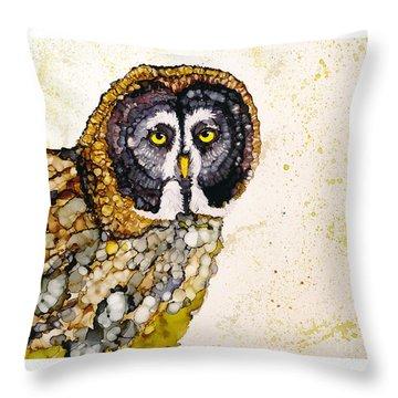 Great Grey Throw Pillow