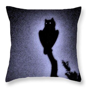 Great Horned Owl In The Desert 4 Throw Pillow
