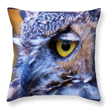 Feather Eyelashes Throw Pillow by Michele Penner