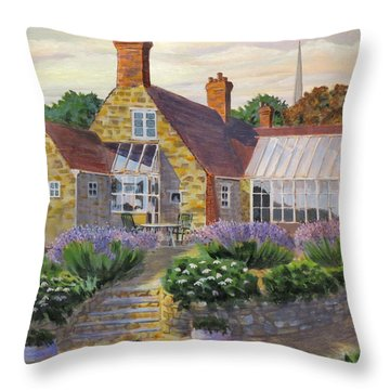 Great Houghton Cottage Throw Pillow by David Gilmore