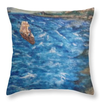 Great Lakes Pirates Throw Pillow