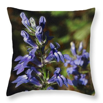 Great Lobelia Blues Throw Pillow