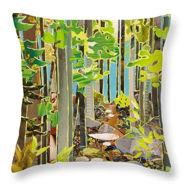 Great Maine Woods Throw Pillow