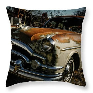 Throw Pillow featuring the photograph Great Old Packard by Marilyn Hunt