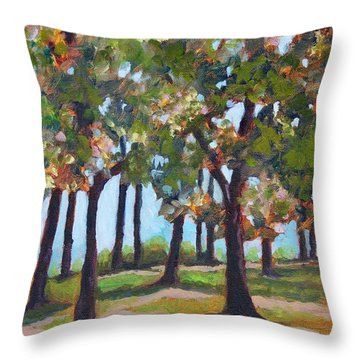 Great Outdoors Throw Pillow by Jan Bennicoff
