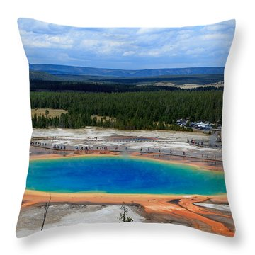 Great Prismatic Spring   Throw Pillow