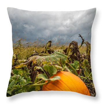 Great Pumpkin Off Center Throw Pillow