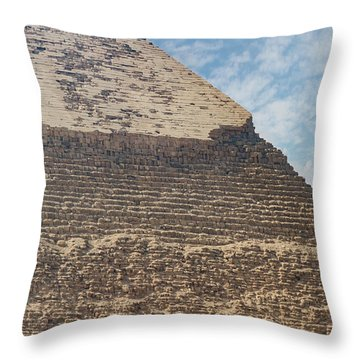 Throw Pillow featuring the photograph Great Pyramid Of Giza by Silvia Bruno