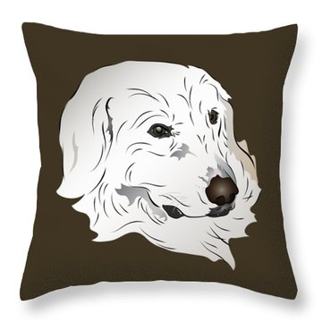 Great Pyrenees Dog Throw Pillow
