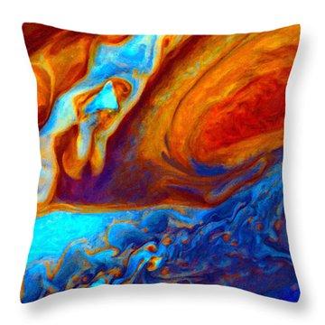 Jovian Turbulence Throw Pillow