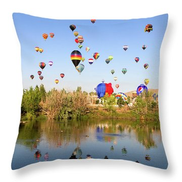 Great Reno Balloon Races Throw Pillow