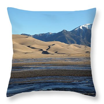 Great Sand Dunes  Throw Pillow