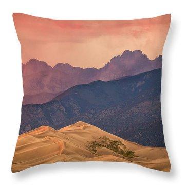 Great Sand Dunes Colorado Throw Pillow