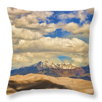 Great Sand Dunes National Monument Throw Pillow by James BO  Insogna