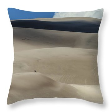 Great Sand Dunes National Park II Throw Pillow by Greg Reed
