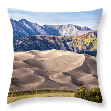 Great Sand Dunes Of Southern Colorado Throw Pillow