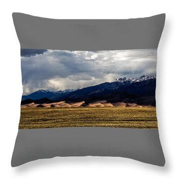 Great Sand Dunes Panorama Throw Pillow