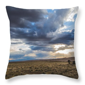 Great Sand Dunes Stormbreak Throw Pillow