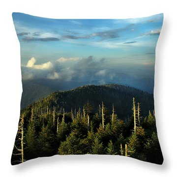 Great Smokies Throw Pillow by Jessica Brawley