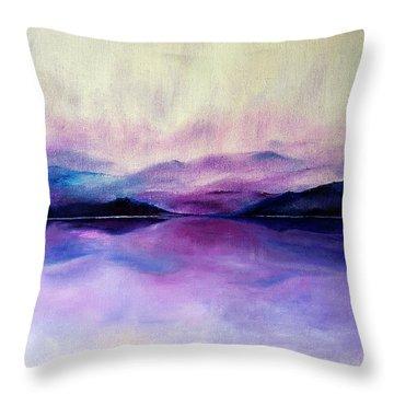 Great Smoky Lakeside Throw Pillow