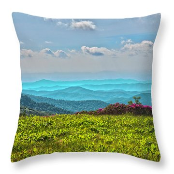 Great Smoky Mountain Afternoon Throw Pillow