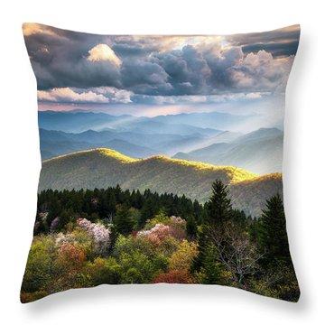 Great Smoky Mountains National Park - The Ridge Throw Pillow