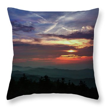 Throw Pillow featuring the photograph Great Smoky Sunsets by Jessica Brawley
