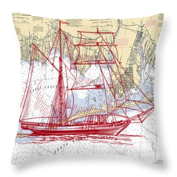 Great South Bay Nautical Throw Pillow