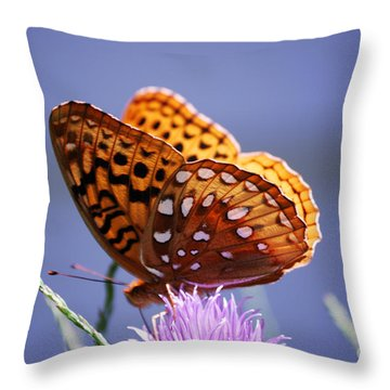 Great Spangled Fritillary Throw Pillow