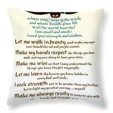 Great Spirit Prayer Throw Pillow