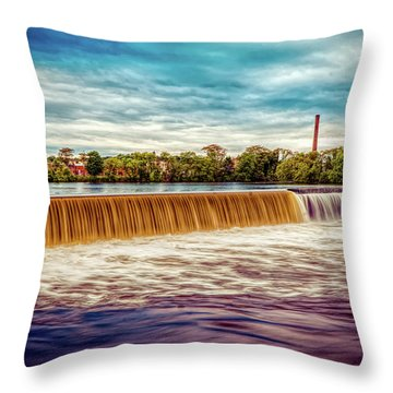 Great Stone Dam Throw Pillow
