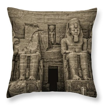 Great Temple Abu Simbel  Throw Pillow