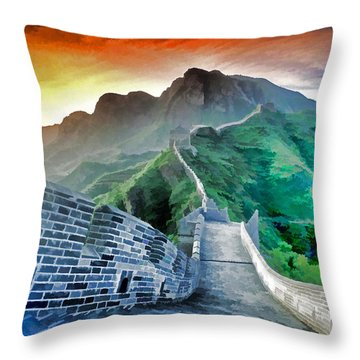 Great Wall Dawn Throw Pillow