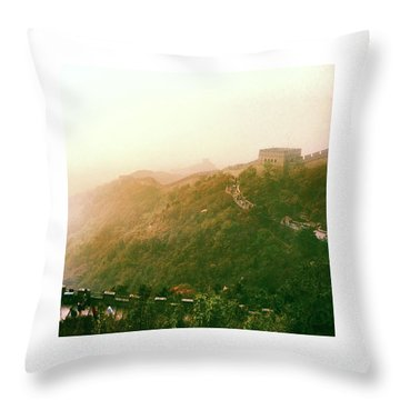 Great Wall Of China Beijing  Throw Pillow
