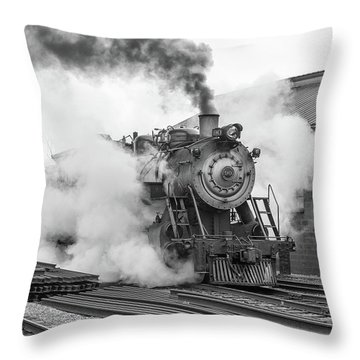 Great Western 90 Boiler Blow Down Throw Pillow