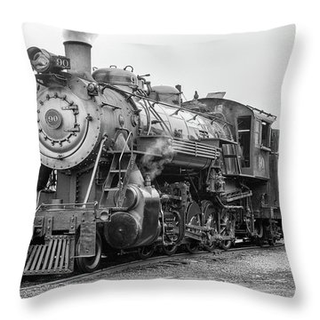 Great Western 90 Servicing Throw Pillow