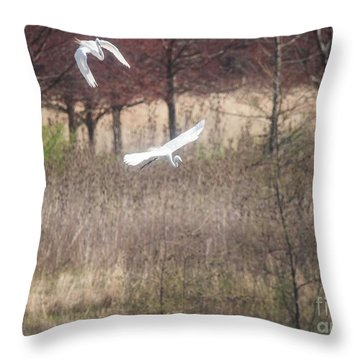 Throw Pillow featuring the photograph Great White Egret - 3 by David Bearden