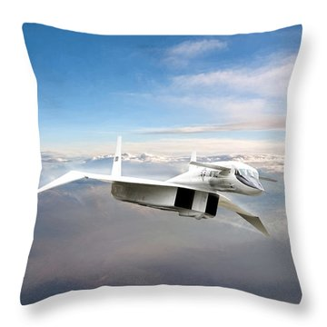 Great White Hope Xb-70 Throw Pillow by Peter Chilelli